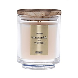 DW Home Vanilla Brulee and Almond Wood-Accent 10 oz. Jar Candle in Ivory