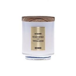 DW Home Gardenia and Tuberose Wood-Accent 4 oz. Jar Candle in White