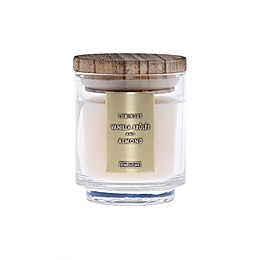 DW Home Vanilla Brulee and Almond Wood-Accent 4 oz. Jar Candle in Ivory