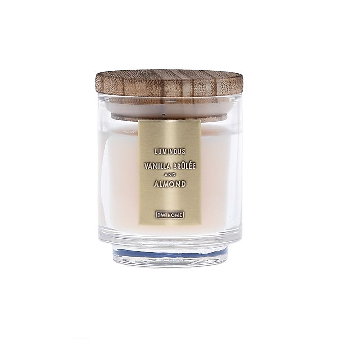 Alternate image 1 for DW Home Vanilla Brulee and Almond Wood-Accent 4 oz. Jar Candle in Ivory
