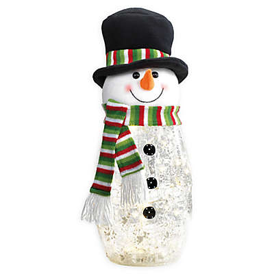 Heritage Home LED Lighted Glass Snowman