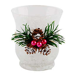 Heritage Home Pine Cone & Berries Tealight Candle Holder