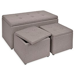 Upholstered Ottomans (Set of 3)
