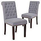 Flash Furniture Upholstered Dining Chairs in Light Gray (Set of 2)