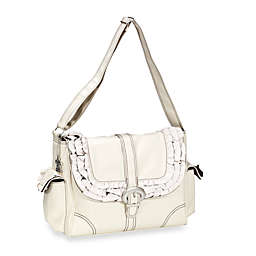 Kalencom Miss Prissy Diaper Bag in Champagne/ Chocolate