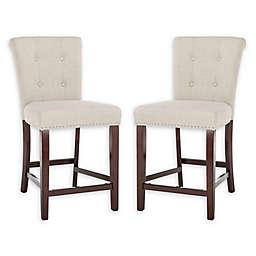 deef2a5bb82 Safavieh Taylor Linen Upholstered Stools (Set of 2)