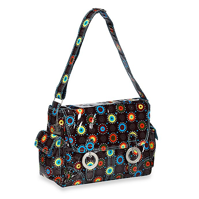 Alternate image 1 for Kalencom® Coated Double Buckle Diaper Bag in Doodle Bugs