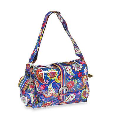 Kalencom Laminated Single Buckle Diaper Bag in Cobalt Paisley