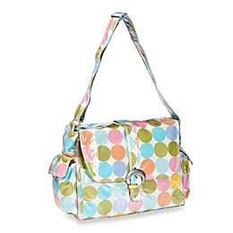Kalencom Laminated Single Buckle Diaper Bag in Disco Dots Cream