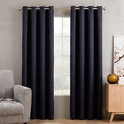 Sketch Grommet Top Window Curtain Panel