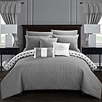 Chic Home Ami 20-Piece Reversible King Comforter Set in Grey