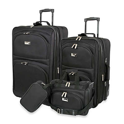 Geoffrey Beene 4-Piece Luggage Set in Black