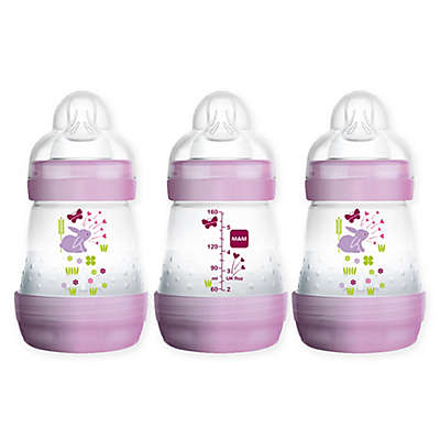 MAM 3-Pack 5 fl. oz. Anti-Colic Bottles