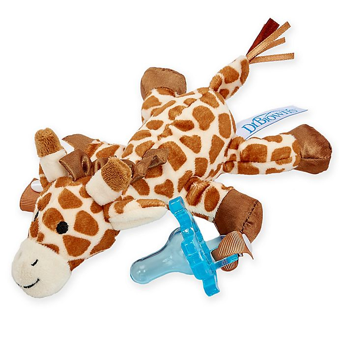 Alternate image 1 for Dr. Brown's® Giraffe Lovey Pacificer and Teether Holder in Blue