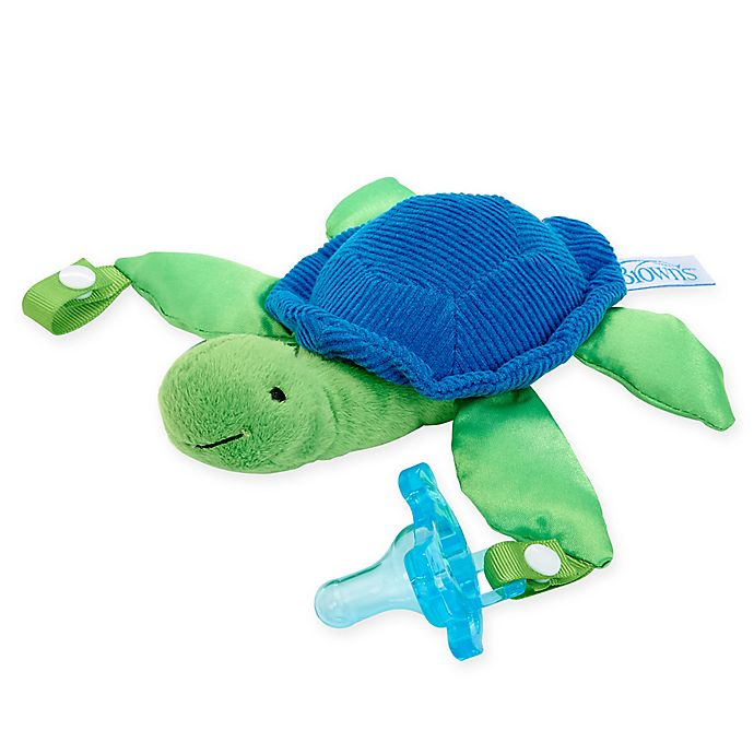 Alternate image 1 for Dr. Brown's® Turtle Lovey Pacificer and Teether Holder in Blue