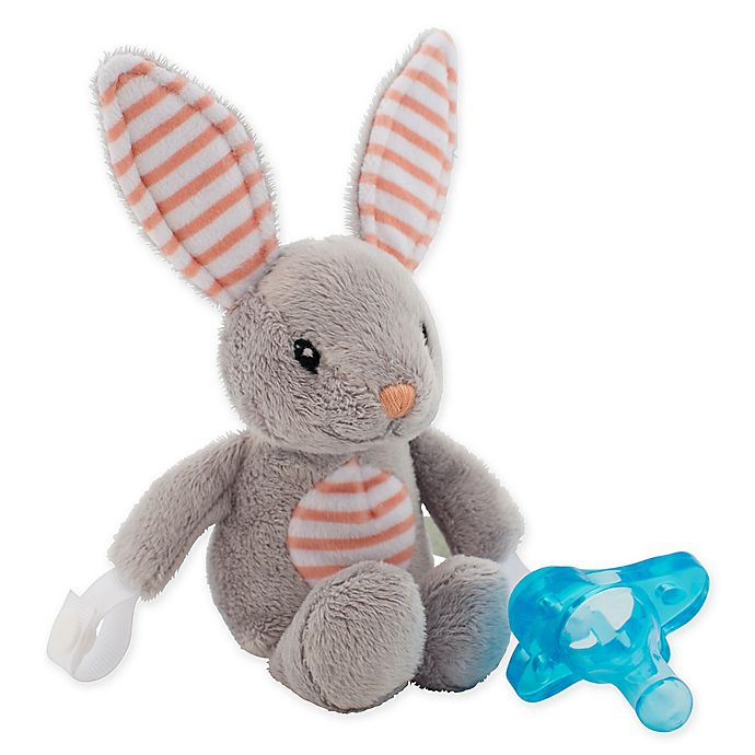Alternate image 1 for Dr. Brown's® Bunny Lovey Pacificer and Teether Holder in Blue