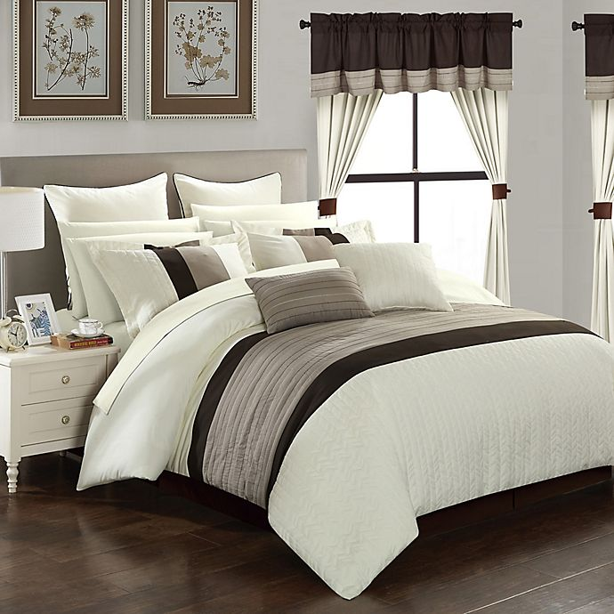 Alternate image 1 for Chic Home Hutch 24-Piece Queen Comforter Set in Beige