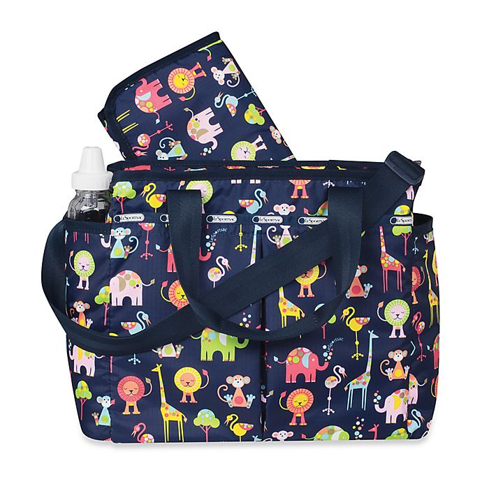 Alternate image 1 for LeSportsac® Zoo Buddies Diaper Bag in Navy