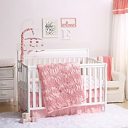 The Peanutshell™ Jayden 4-Piece Crib Bedding Set in Light Coral