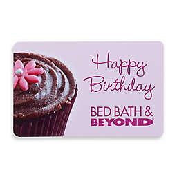 """Happy Birthday"" Pink Cupcake Gift Card"