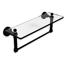 Allied Brass Waverly Place Glass Vanity Shelf  with Integrated Towel Bar