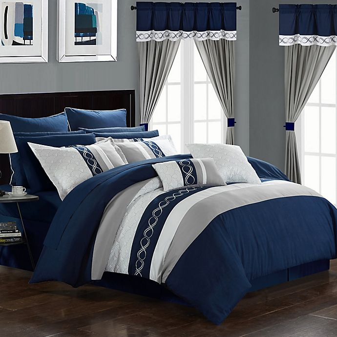 Matching Bedroom And Bathroom Sets: Chic Home Yair 24-Piece Comforter Set