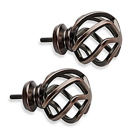 Cambria® Premium Orb Birdcage Finials in Oil Rubbed Bronze (Set of 2)
