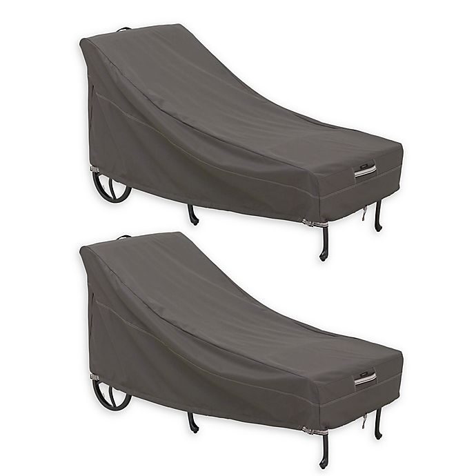 Classic Accessories Ravenna Large Patio Chaise Lounge Covers Set Of 2 Bed Bath Beyond
