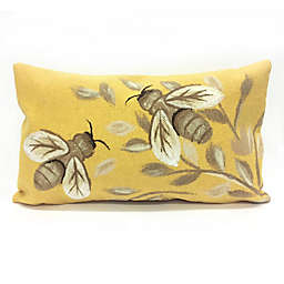 Liora Manne Visions Bees Honey Indoor/Outdoor Throw Pillow in Gold