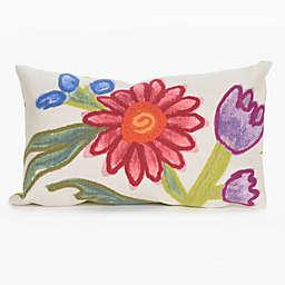 Liora Manne Gypsy Flower Multicolor Indoor/Outdoor Throw Pillow