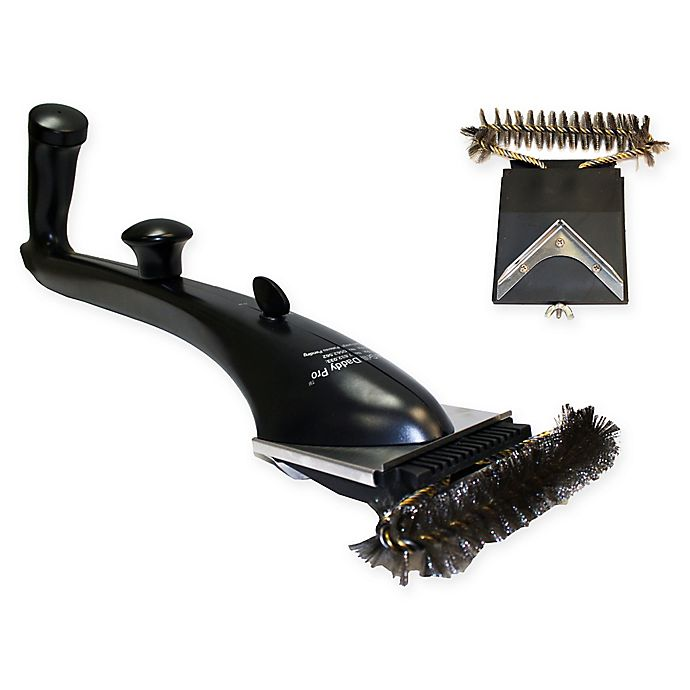 Alternate image 1 for Grill Daddy Pro Safety-Clean Steam Cleaning BBQ Grill Brush with Replacement Head