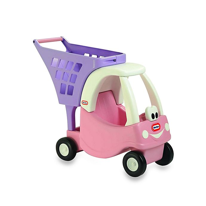 Alternate image 1 for Little Tikes™ Cozy Shopping Cart in Pink/Purple