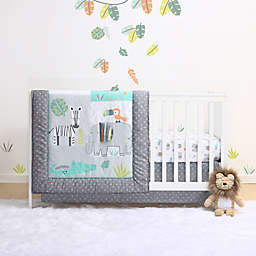 Little Haven Safari Crib Bedding Collection in Green/Grey