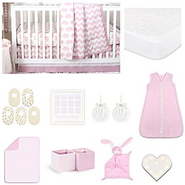 The PeanutShell™ Ellie Chevron 18-Piece Nursery Essentials Set