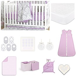 The Peanut Shell™ Damask Crib Bedding Collection