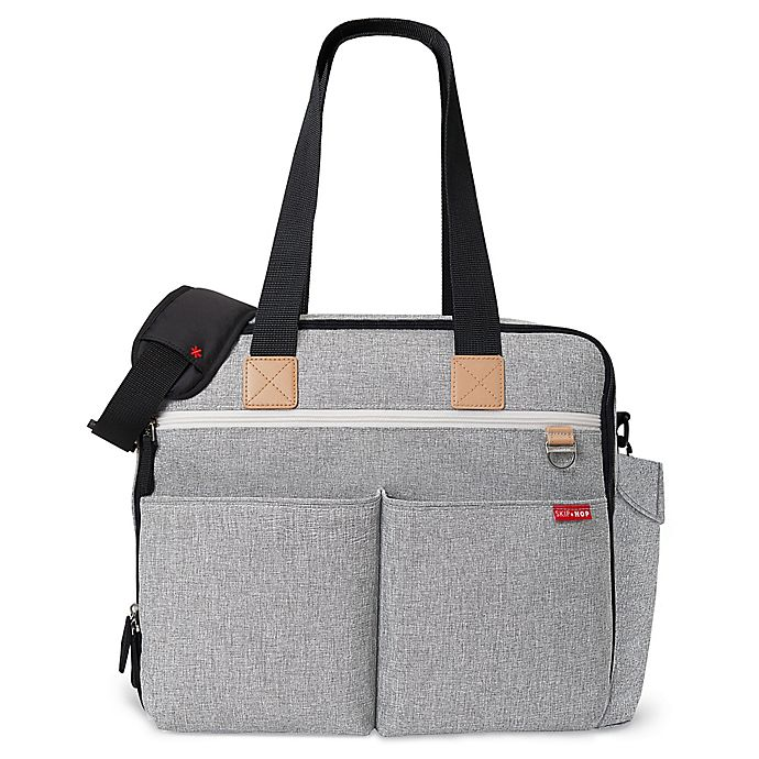 Alternate image 1 for SKIP*HOP® Duo Weekender Diaper Bag in Grey Melange