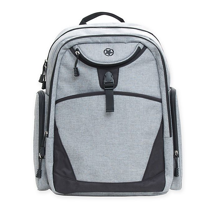 Alternate image 1 for J is for Jeep® Everyday Backpack Diaper Bag in Grey