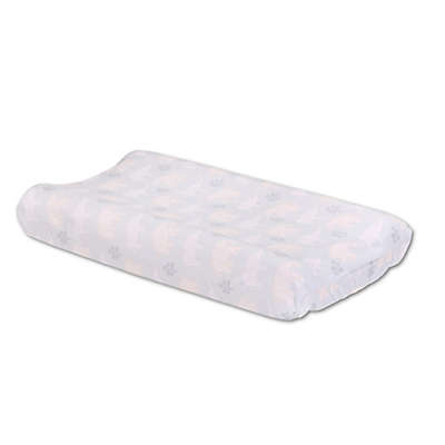 The Peanutshell® Tons of Love Velour Changing Pad Cover in Grey
