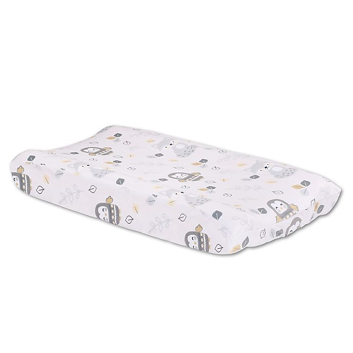 Alternate image 1 for Little Haven Woodland Friends Velour Changing Pad Cover in Grey