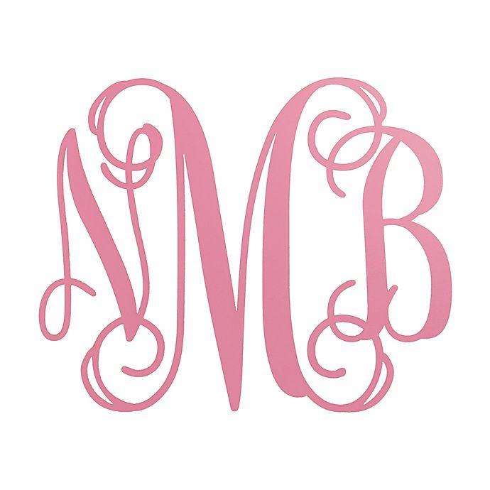 Alternate image 1 for Oversized Wood Monogram Plaque in Pink