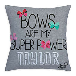 "JoJo Siwa™ ""Bows Are My Super Power"" Throw Pillow in Grey"