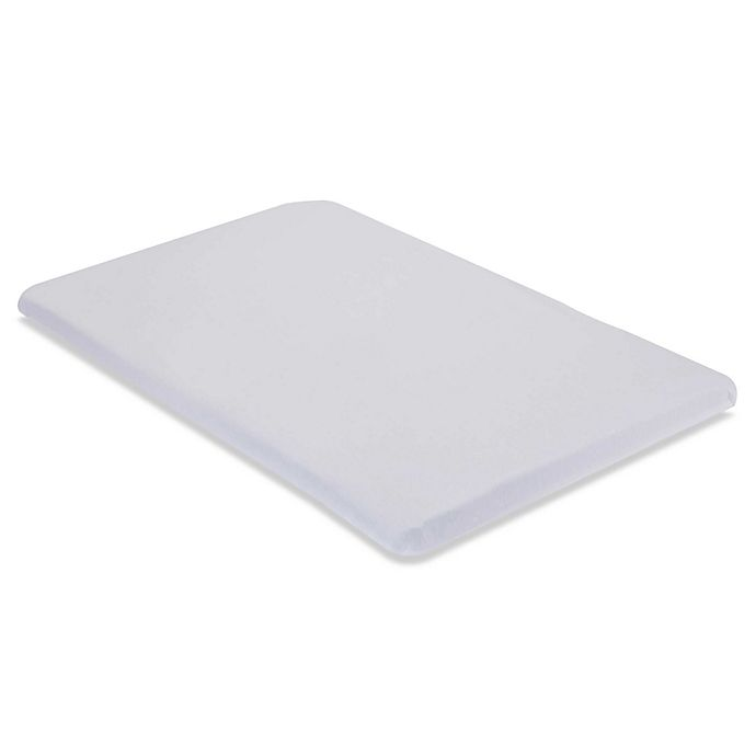 Alternate image 1 for LA Baby® Fitted Cotton Mini/Portable Crib Sheet in White