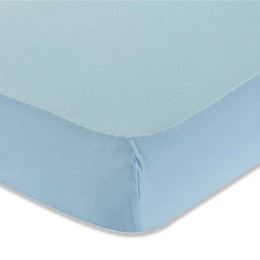 LA Baby® Fitted Cotton Full-Size Crib Sheet in Mint