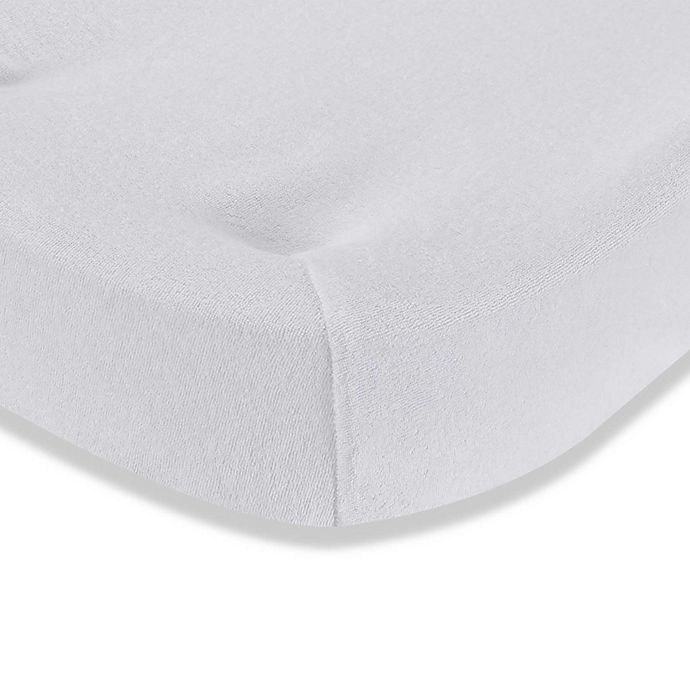 Alternate image 1 for LA Baby® Terry Cocoon Changing Pad Cover in White