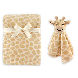 Hudson Baby® Giraffe Plush Security Blanket Set in Grey