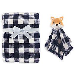 Hudson Baby® Fox Plush Security Blanket Set in Blue