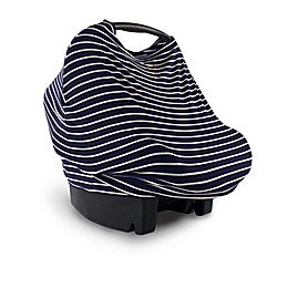 Yoga Sprout Multi-Use Car Seat Canopy in Navy Stripes