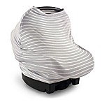 Yoga Sprout Multi-Use Car Seat Canopy in Grey Stripes