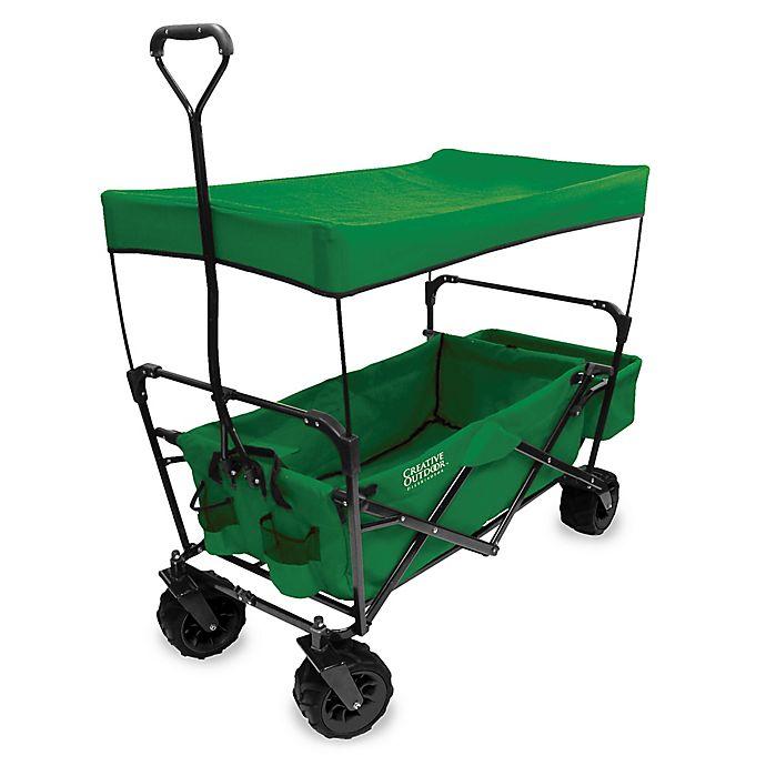 Creative Outdoor™ All-Terrain Folding Wagon with Canopy  e30f408cc35c