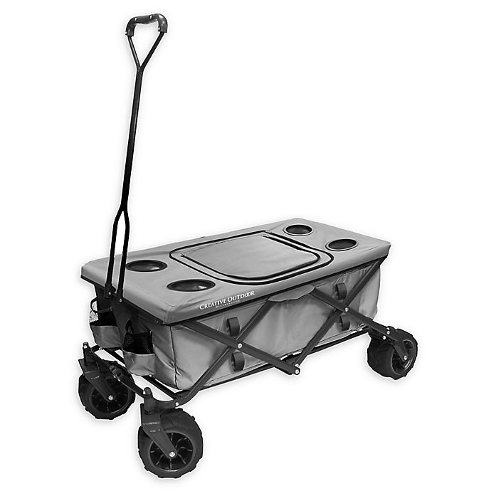 Alternate image 1 for Creative Outdoor Folding All-Terrain Wagon with Tabletop in Grey